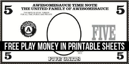 FREE Printable: Play Money - Tico ♥ Tina