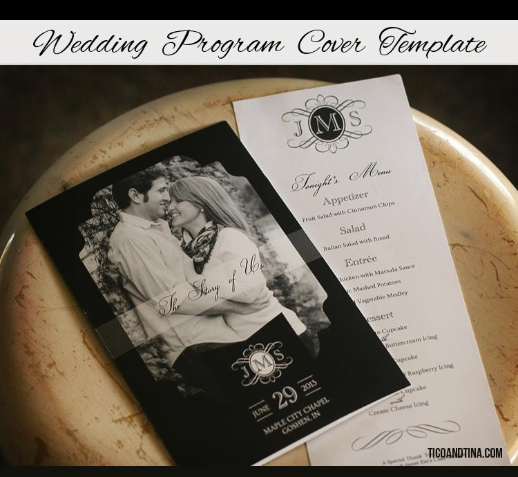 free wedding program cover template