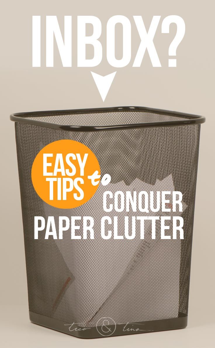 Easy Solutions To Conquer Paper Clutter Management Tico