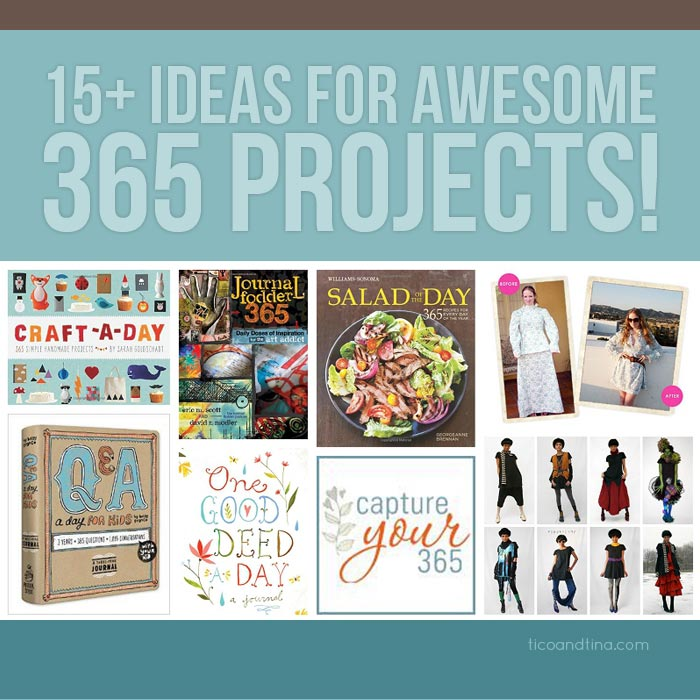 15 fun ideas for 365 projects tico tina - Graphic Design Project Ideas