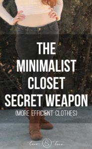 The Minimalist Closet Secret Weapon - more efficient clothes - 7 outfits with 1 pair of reversible pants