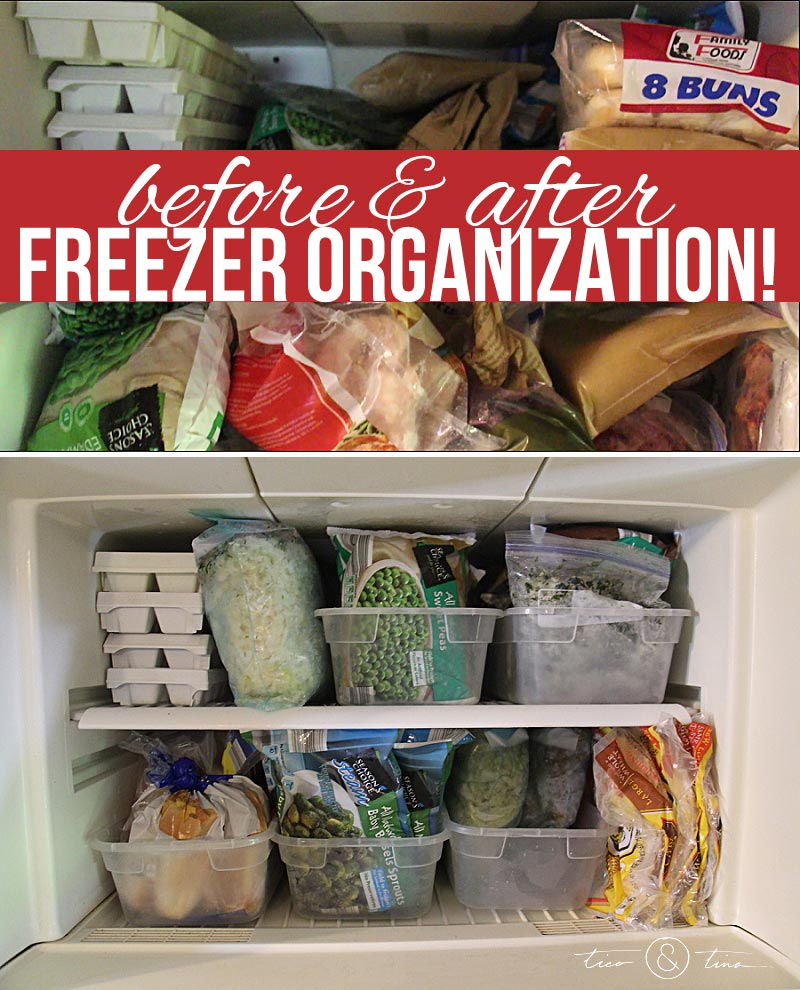 GENIUS way to organize your freezer and refrigerator - so easy to just pull out and take inventory or find what you're looking for!  Stop the struggle :)