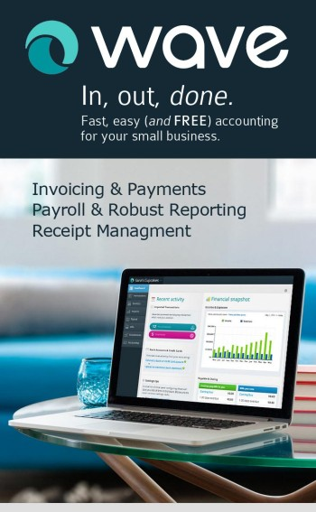 Wave: easy money management for business and personal finances - invoicing, payments, payroll, receipt management, robust reporting - great organization for simplifying taxes!