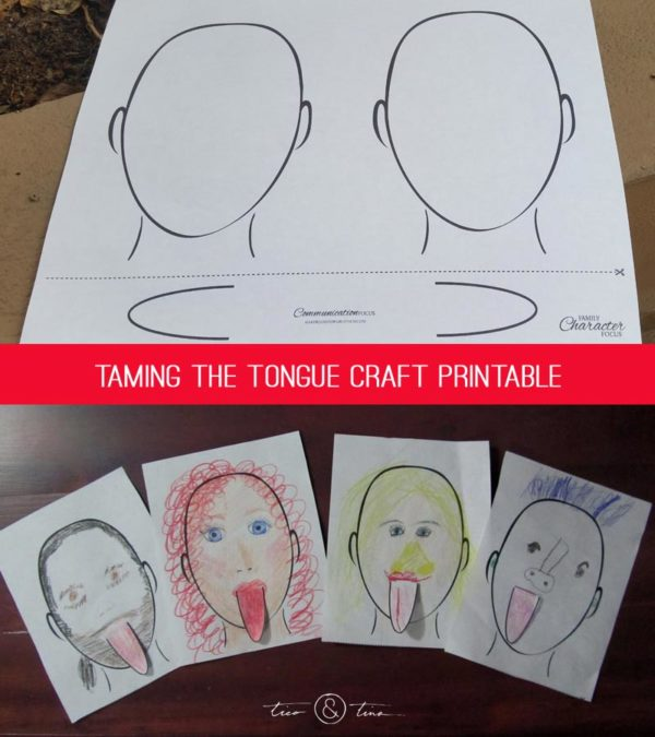 Taming the tongue craft printable   Family Character Focus™