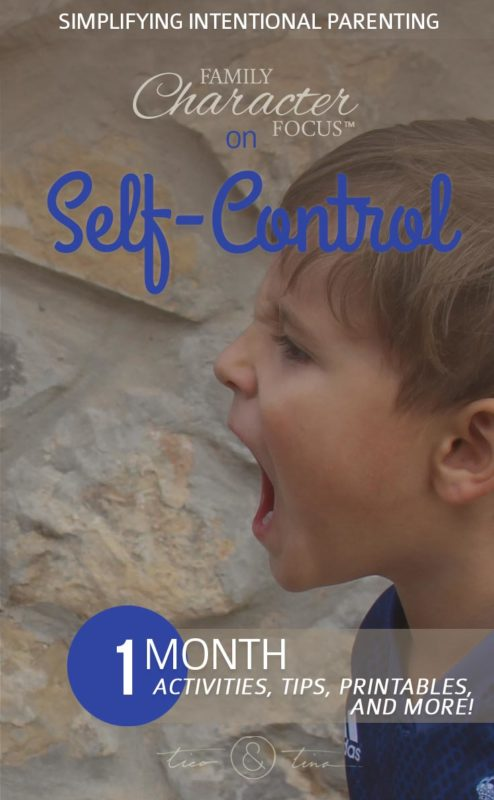 Tips, Tools, and Resources for Teaching Kids Self-Control | Family Character Focus, Make Room for Greatness