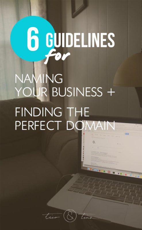 """How to Name Your Business and Find the Perfect Domain Name   name.kitchen, """"not-com"""", branding"""