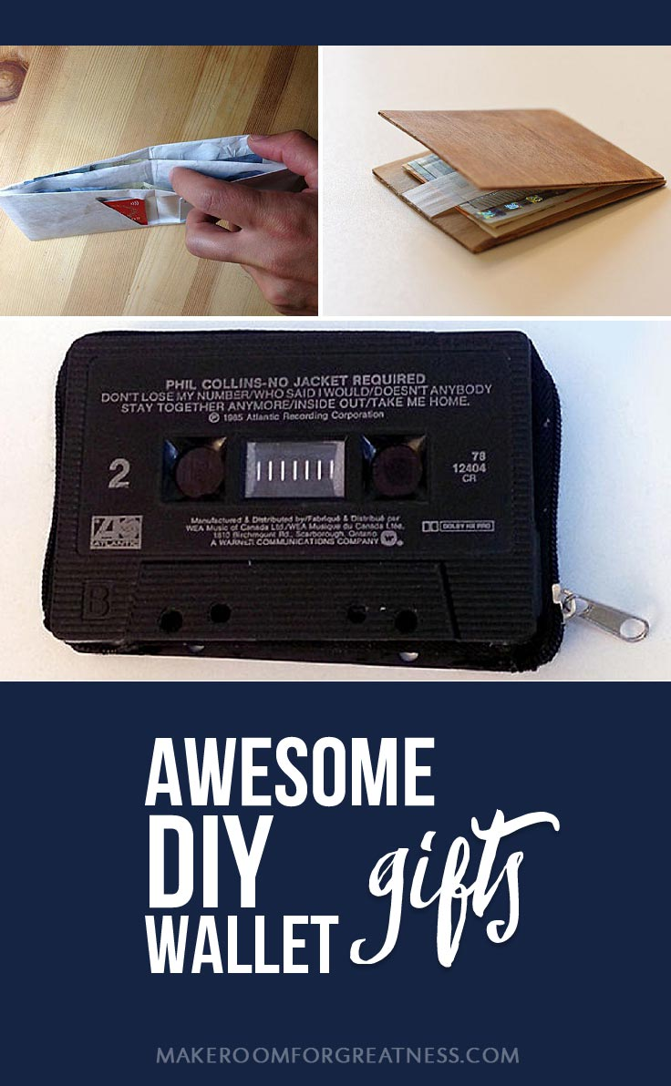 homemade gifts don't have to suck - these DIY wallets are awesome | Christmas gift, birthday gift, man gift