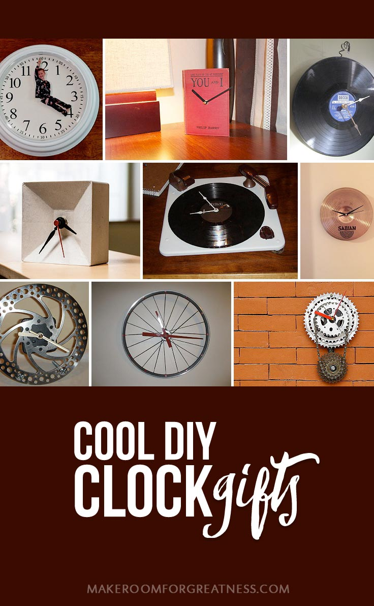 homemade gifts don't have to suck - these DIY clocks are so cool! | Christmas gift, birthday gift, man gift