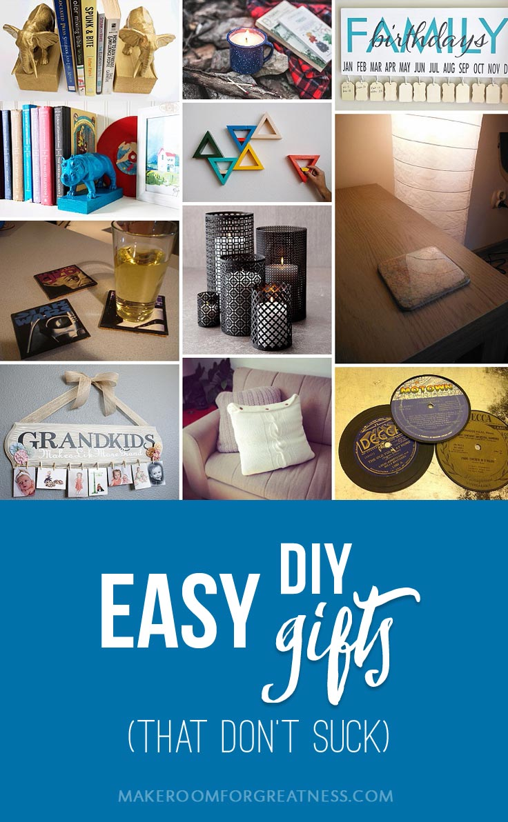 homemade gifts don't have to suck - these easy DIYs are actually useful and chic! | Christmas gift, birthday gift, man gift