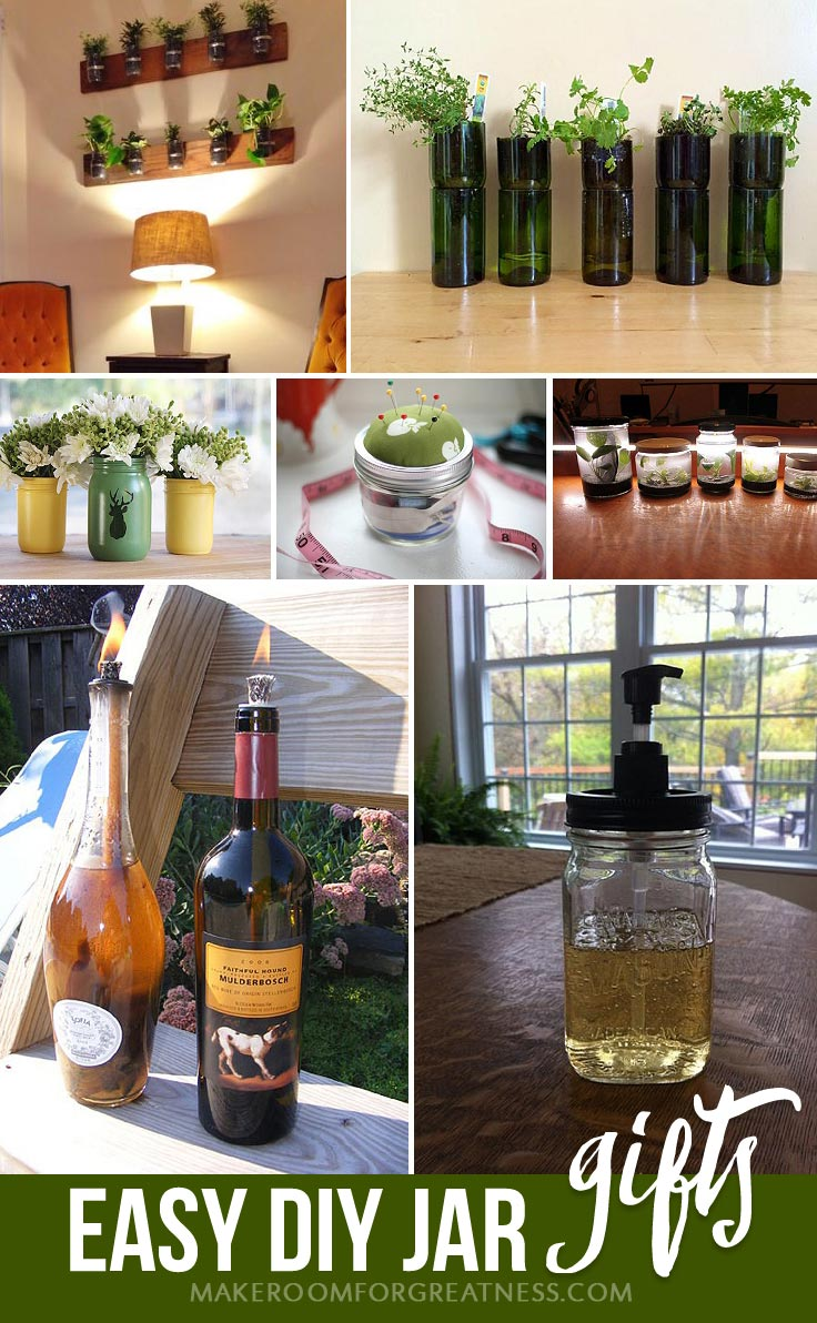 homemade gifts don't have to suck - these DIY jar and bottle projects are elegant and useful! | Christmas gift, birthday gift