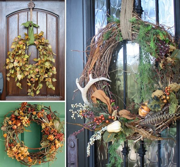 minimalist holiday decor - good base items as part of your regular decor that you can just customize for each holiday or season   nature decor, fall wreath, fall decor, thanksgiving decor