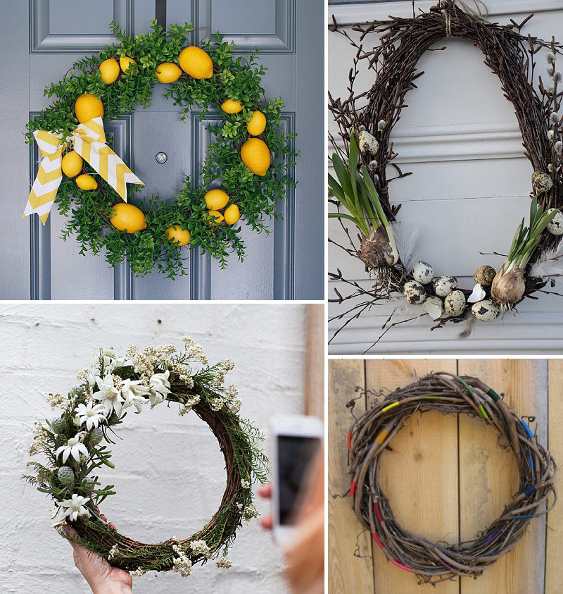 minimalist holiday decor - good base items as part of your regular decor that you can just customize for each holiday or season   nature decor, summer wreath, summer decor