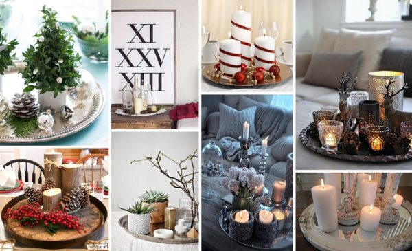 minimalist holiday decor - good base items as part of your regular decor that you can just customize for each holiday or season   winter decor, christmas decor, candles