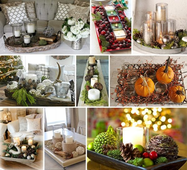 minimalist holiday decor - good base items as part of your regular decor that you can just customize for each holiday or season   fall decor, winter decor, thanksgiving decor, christmas decor, candles