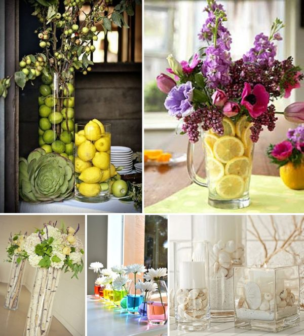 minimalist holiday decor - good base items as part of your regular decor that you can just customize for each holiday or season   summer vases, summer decor