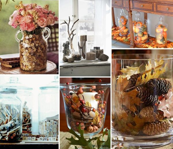 minimalist holiday decor - good base items as part of your regular decor that you can just customize for each holiday or season   fall vases, fall decor, thanksgiving vases, thanksgiving decor