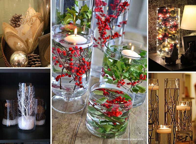 minimalist holiday decor - good base items as part of your regular decor that you can just customize for each holiday or season   winter vases, winter decor, christmas vases, christmas decor