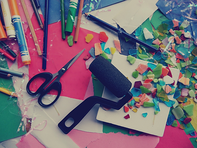 How to Organize Your Living Room and Office - get rid of craft supplies
