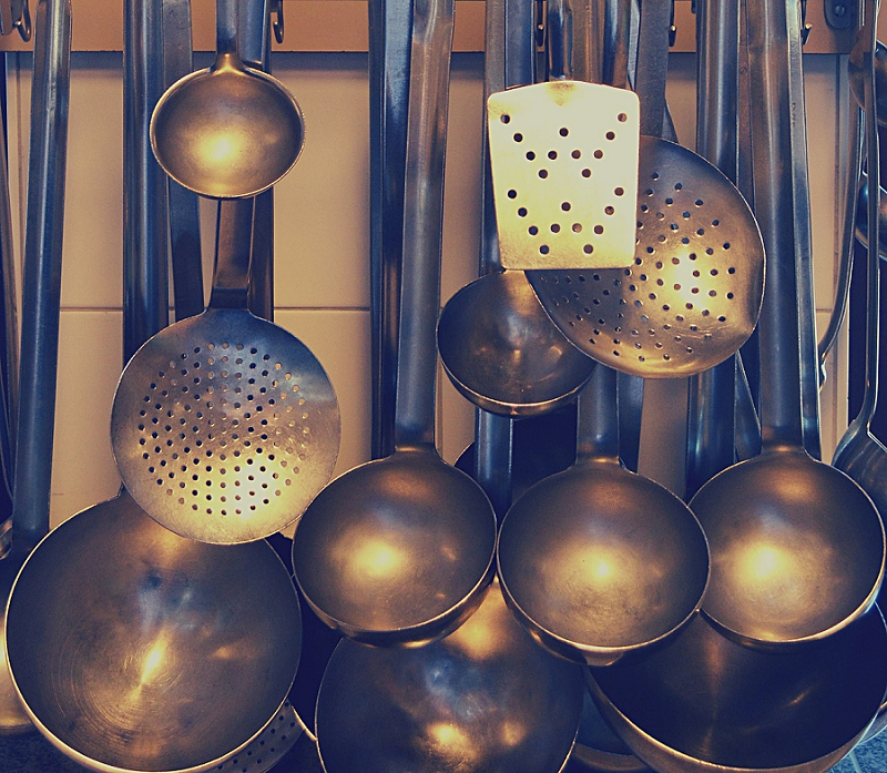 16+ Things to Get Rid of to Reduce Kitchen Clutter get rid of ladles & serving spoons