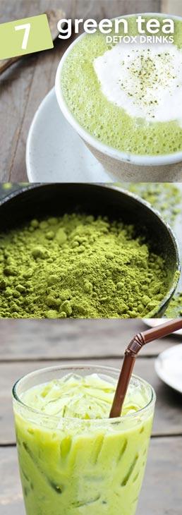 7 green tea detoxing drinks